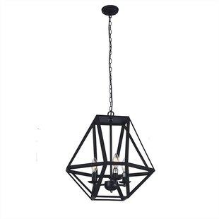 Benefiel 3-Light Geometric Chandelier by Wrought Studio