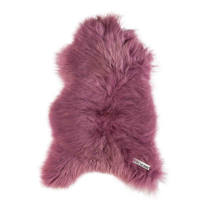 Icelandic Sheepskin Dark Pink Rug