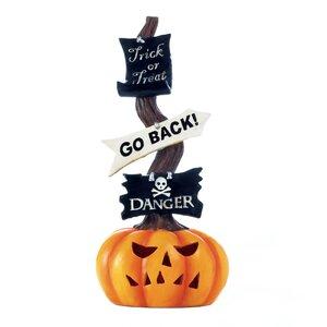 Spooky Halloween Pumpkin Light-up Sign