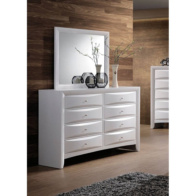 La 8 Drawer Double Dresser With