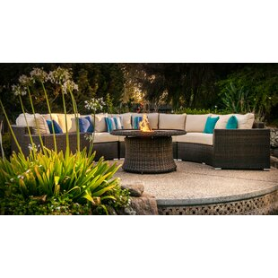 Wachapreague 5 Piece Rattan Sectional Group with Cushions