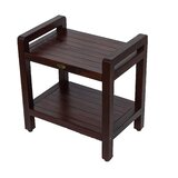 Outdoors Solid Wood Side Table