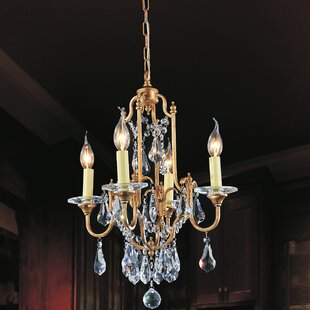 CWI Lighting Electra 4-Light Candle Style Chandelier