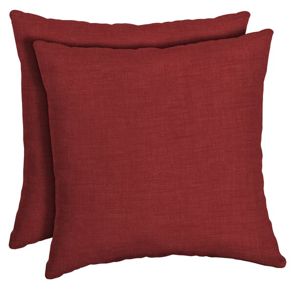 AstellaStyle 12 x 18 Lumbar Outdoor and Indoor Olefin Scotchguard Fade Resistant Patio Throw Pillow in Roland Red