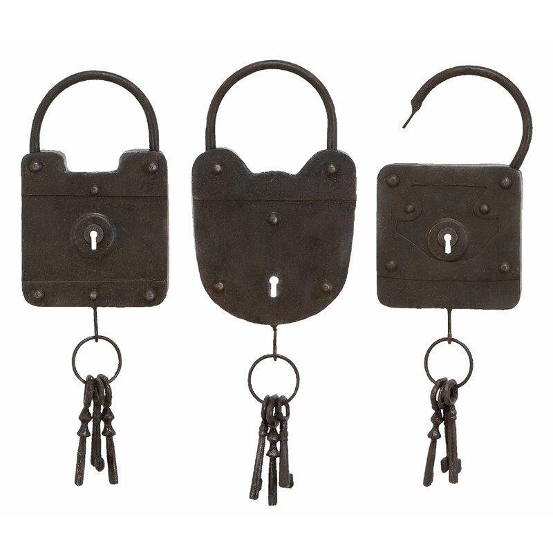 Gracie Oaks Metal Key Wall Décor Set