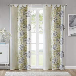Colletti Nature/Floral Semi-Sheer Grommet Single Curtain Panel by Winston Porter