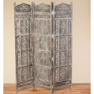 Royston 3 Panel Room Divider by Bungalow Rose