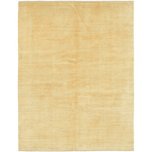 Order One-of-a-Kind Didcot Hand-Knotted 5' x 6'6 Wool Gold Area Rug By Isabelline