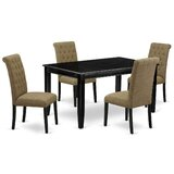 Erwica 5 Piece Solid Wood Dining Set by Winston Porter