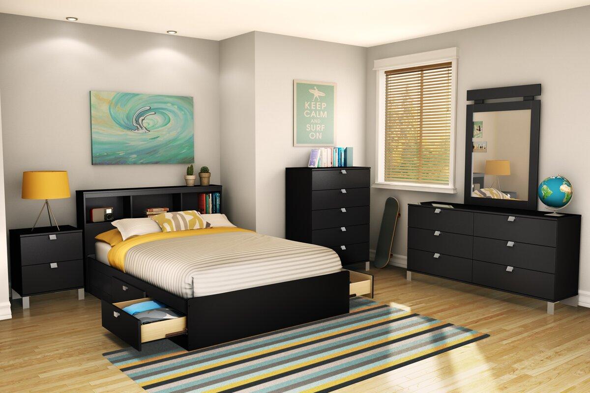 south shore spark mate u0027s bed box with storage u0026 reviews wayfair