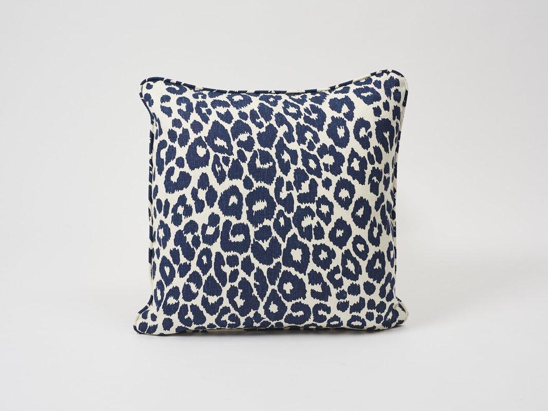 Schumacher Iconic Leopard Linen Throw Pillow