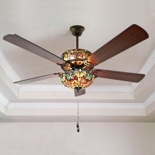 52 5-Blade Ceiling Fan with Remote, Light Kit Included by River of Goods