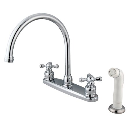 Kingston Brass Vintage Double Handle Kitchen Faucet With Side Spray Wayfair