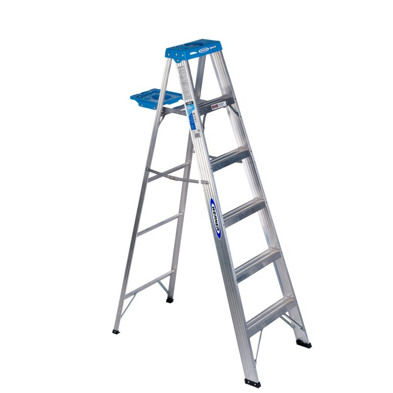 Werner 6 Ft Aluminum Step Ladder With 250 Lb Load Capacity Reviews Wayfair