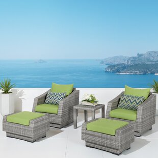 Castelli 5 Piece Rattan Conversation Set with Cushions