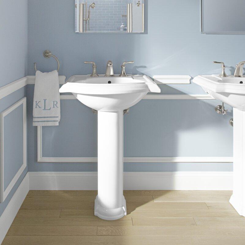 pedestal bathroom sinks. Devonshire  Ceramic 25 Pedestal Bathroom Sink with Overflow Kohler