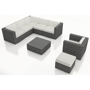 Harmonia Living District 8 Piece Sunbrella Sectional Set with Cushions