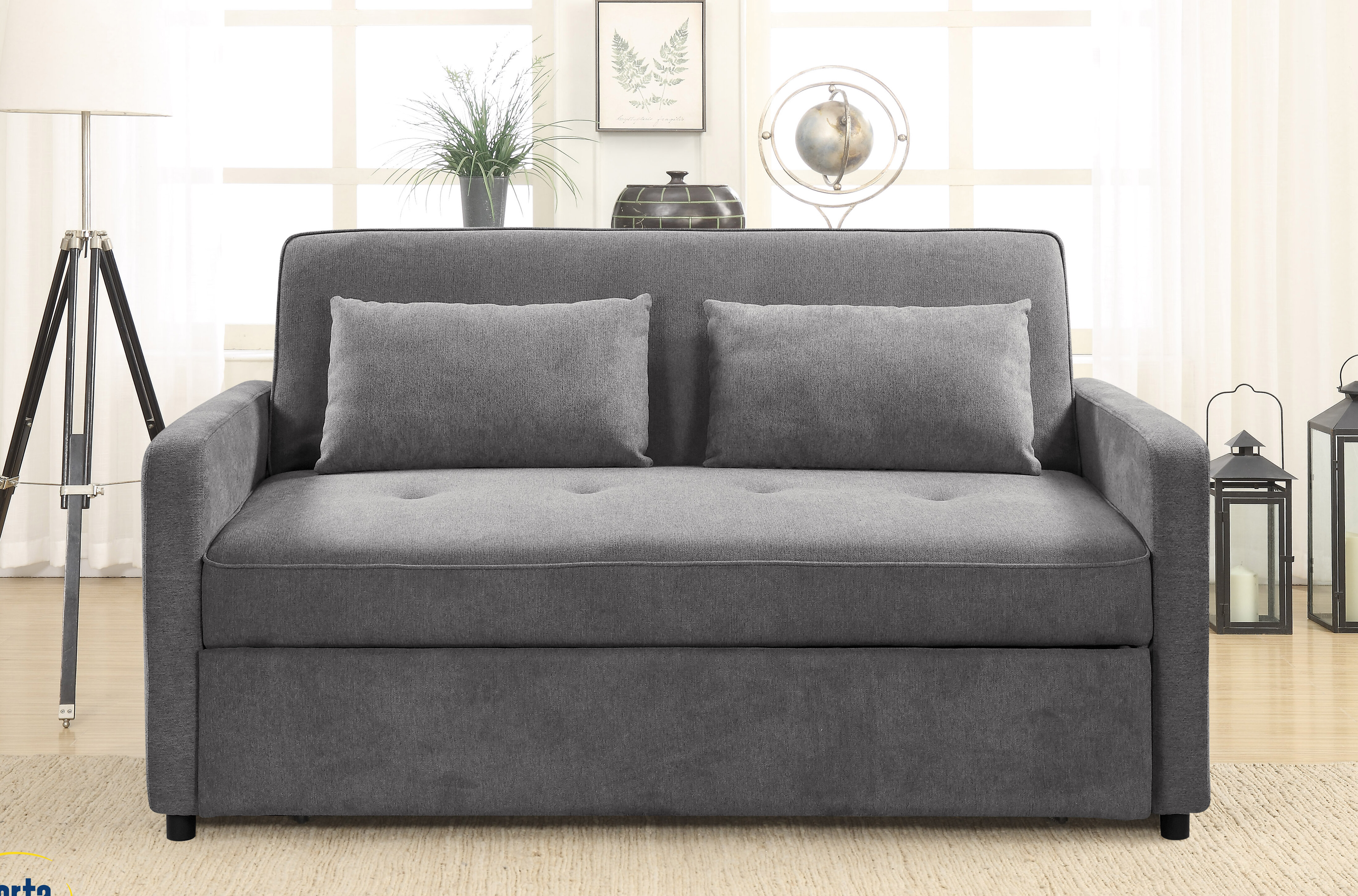 Faye Queen Tufted Back Convertible Sofa