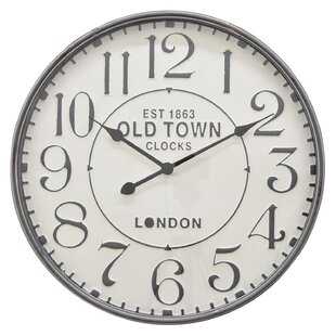 Three Hands 23 5 Metal Wall Clock In Grey