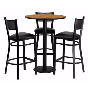 Harbuck Round Laminate 4 Piece Pub Table Set by Red Barrel Studio