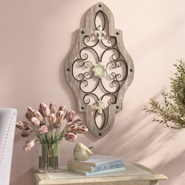 French Scroll Wall Décor- Fleur De Lis Wall Art