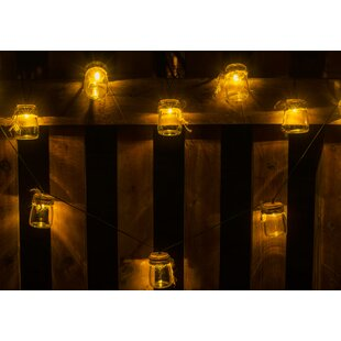 Winsome House Jars with Twine 12.79 ft. 10-Light Novelty String Lights