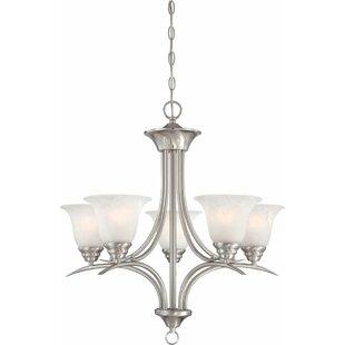 Whetsel 5-Light Shaded Chandelier by Fleur De Lis Living