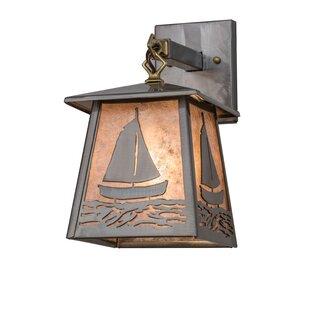 Chittening Sailboat Outdoor Wall Lantern ..