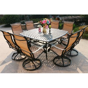 Bankston Aluminum 9 Piece Dining Set