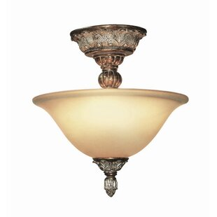 Worthington 2-Light Semi Flush Mount by Woodbridge Lighting