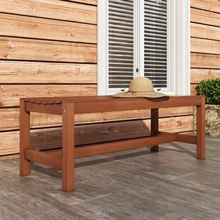 Beachcrest Home Monterry Wood Outdoor Picnic Bench