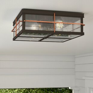 Beachcrest Home Craig 2-Light Outdoor Flush Mount