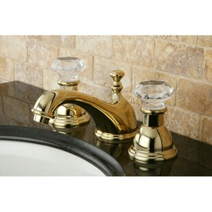 Price Check Celebrity Celebrity Double Crystal Handle Widespread Bathroom Faucet with Brass Pop-Up Drain ByKingston Brass