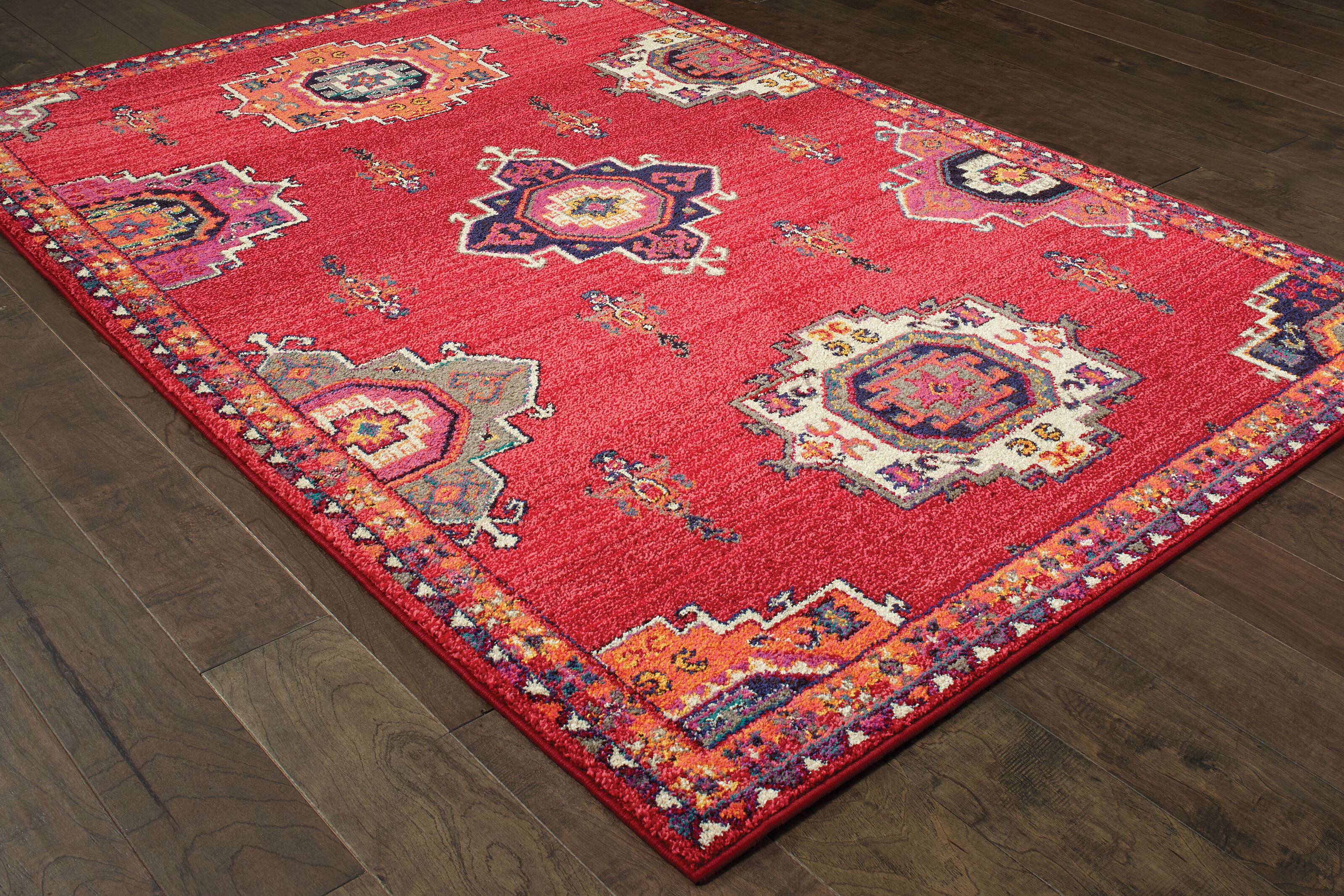 Pasargad Bohemian Power Loom Red Rug Wayfair
