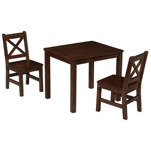Myona Kids 3 Piece Square Table and Chair Set by Harriet Bee