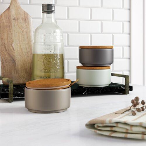 450 ml 3-tlg. Vorratsdosen-Set Hashtag Home Farbe: Grau/Blassblau | Küche und Esszimmer > Aufbewahrung > Vorratsdosen | Hashtag Home
