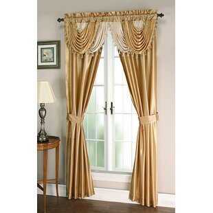 Weinman Window Treatment Solid Room Darkening Rod Pocket Curtain Panels (Set of 2) by Astoria Grand