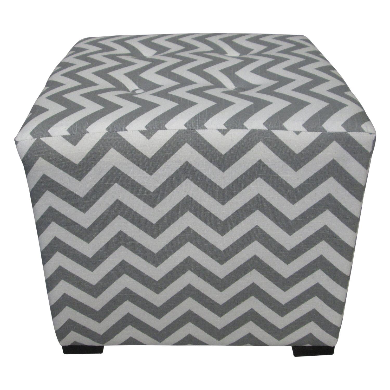 Ebern Designs Cube Tufted Cube Ottoman Reviews Wayfair