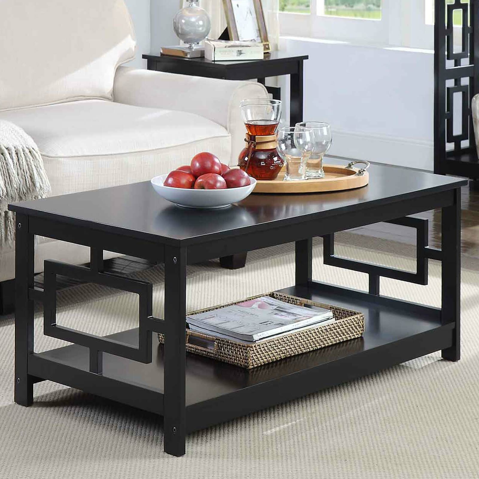 Winston Porter Carlino 3 Piece Coffee Table Set Reviews Wayfair