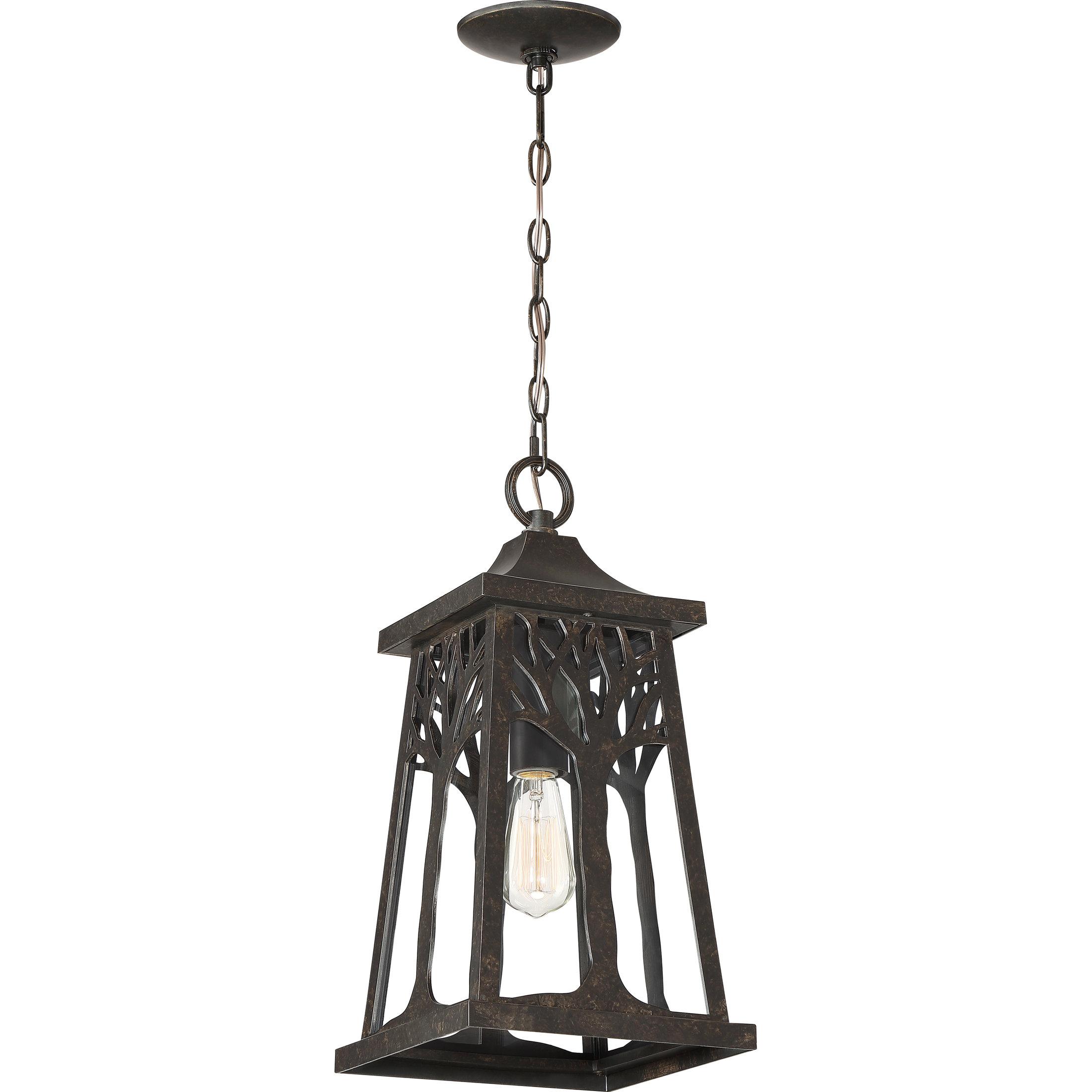 Millwood Pines Yeung 1 Light Outdoor Hanging Lantern Wayfair