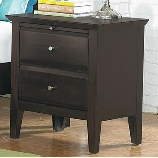 Check Prices Germann Wooden 2 Drawer Nightstand by Red Barrel Studio