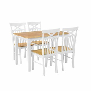 Scurlock 5 Piece Solid Wood Dining Set