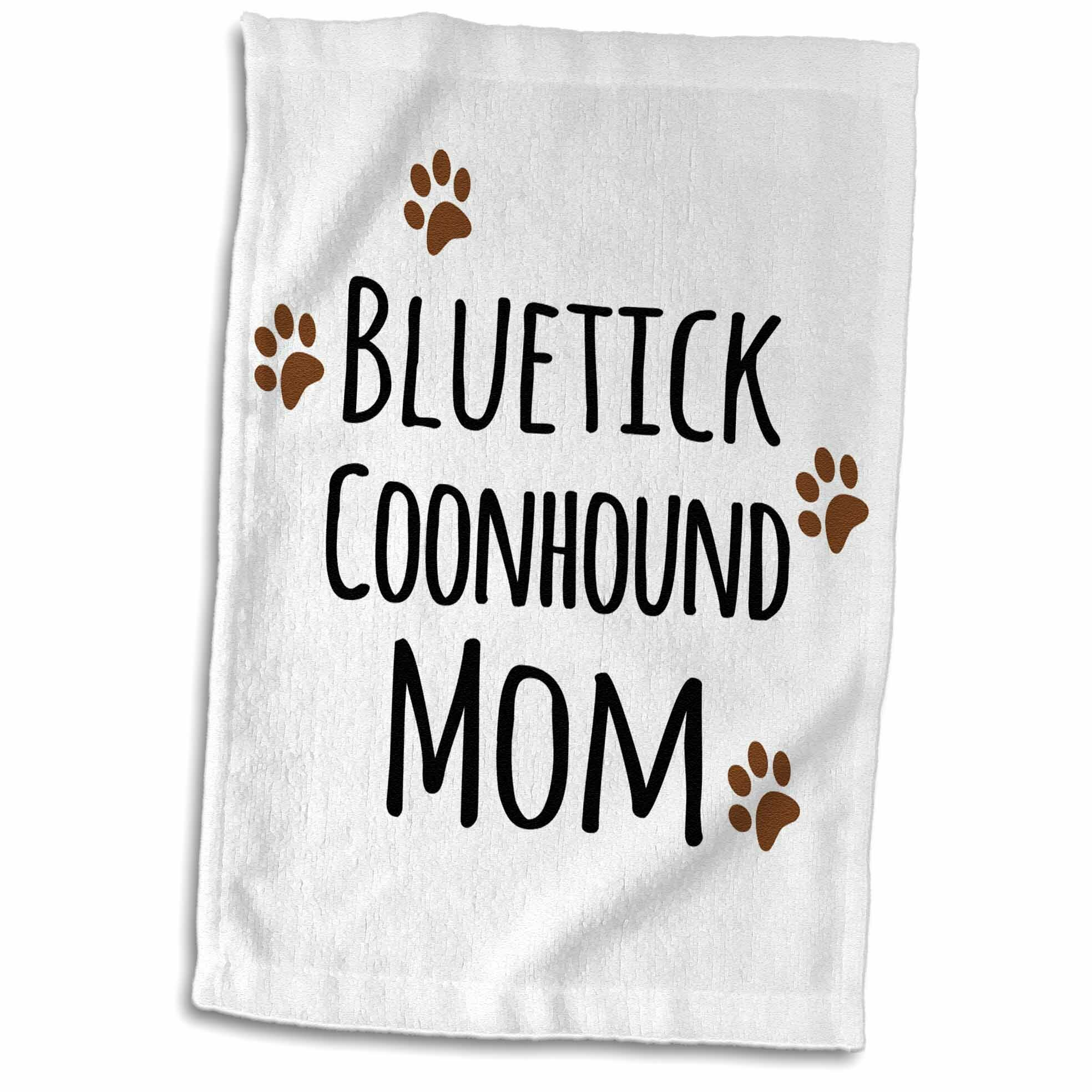 Symple Stuff Louque Tick Coonhound Dog Mom Doggie By Breed Muddy Paw Prints Doggy Lover Mama Pet Owner Hand Towel Wayfair