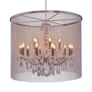 Rosdorf Park Macaulay 15-Light Drum Chandelier