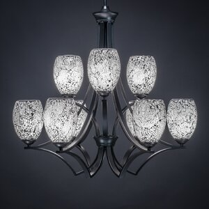 Zilo 9-Light Shaded Chandelier