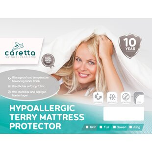 Caretta Terry Cotton Hypoallergenic Waterproof Mattress Protector