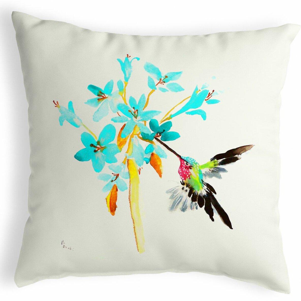 Highland Dunes Simmon Hummingbird Indoor Outdoor Lumbar Pillow Wayfair