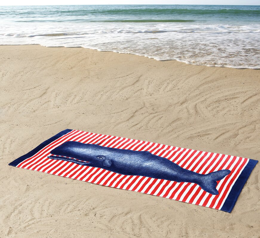 Charmant Whale Beach Towel