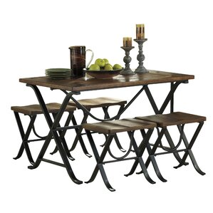 Jaden 5 Piece Dining SetMetal Kitchen   Dining Room Sets You ll Love   Wayfair. Metal Dining Room Table Sets. Home Design Ideas