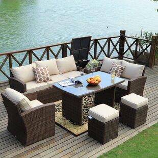 Latitude Run Benedetti 7 Piece Sofa Set with Cushions
